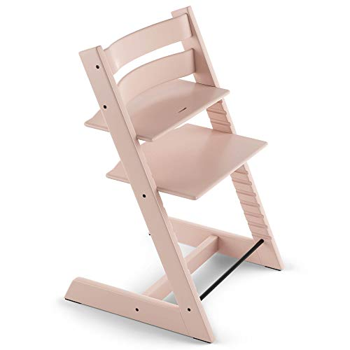 TRIPP TRAPP® sedia evolutiva per neonati, bambini, adulti │ Seggiolone in legno di faggio regolabile in altezza │ Colore: Serene Pink