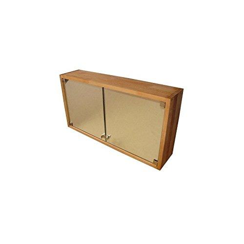 Praktischer Badezimmerschrank, Spiegelschrank, Hängeschrank aus Massivholz Buche, geölt, echtes Holz