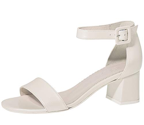 Fiarucci Brautschuhe Dilara - Damen Sandaletten gepolstert, Perle/Creme, Leder - Gr. 37 (UK 4)