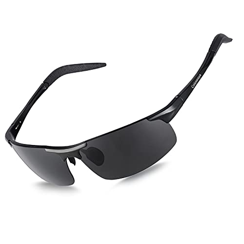 Coloseaya Gafas deportivas polarizadas UV400, para hombre y mujer, para ciclismo, pesca, correr, conducir o golf (schwarz)
