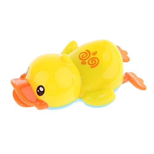 SM SunniMix Lindo Pato Amarillo de Natación a Cuerda, Juguetes de Bañera para Bebés, Juguete de Piscina para Niños, Juguetes de Baño Preescolar