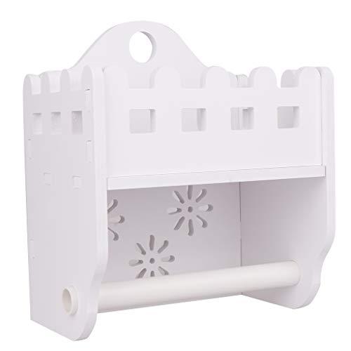 Landhausstil Toilettenpapierhalter Rollenhalter Papierhalter mit Ablage Badezimmer Toilette