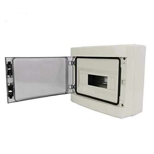 BeMatik - Schaltkasten Elektroverteilerkasten aus 12 Modulen elektrisch Kasten Kunststoff Oberfläche IP65 HA