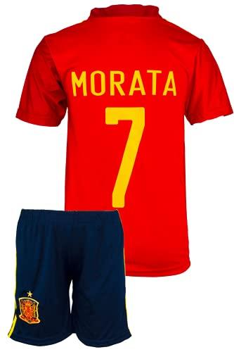 StoneMale 2021 Spanien Heim Álvaro Morata #7 Kinder Trikot Europäische Nationalmannschaften (152, 8-9 Jahre)