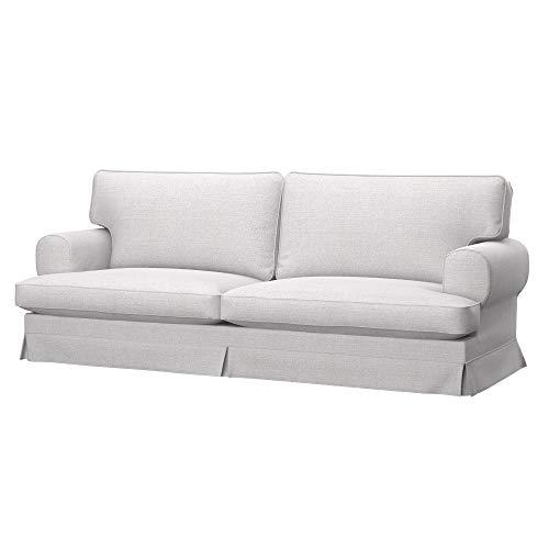 Soferia Bezug fur IKEA EKESKOG 3er-Bettsofa, Stoff Naturel White