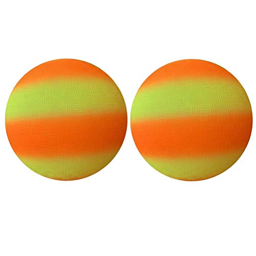 Abaodam 2 bolas de PVC antideslizantes de 8.5 pulgadas, para deportes y juegos de pelota de kickball para niños, juguete para interiores y exteriores