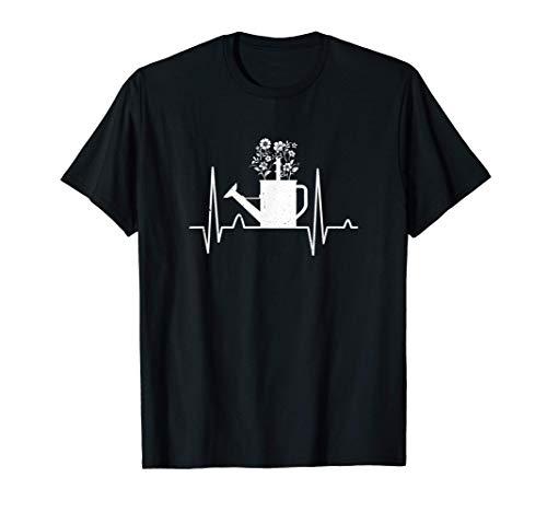 Lata de riego Latido del corazón Jardinero Camiseta