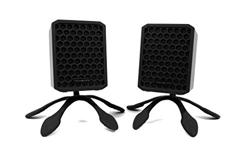 Tech-Life Finger Mounts: Strong Flexible Speaker mounts for Tech-Life Twins. Mount Your Speakers on Bicycle Handlebars, Shower Curtain rods, Kitchen Cabinet Handles, or use as Table Stands– 2 Pack