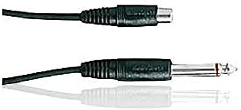 6' Shielded Audio Cable 1/4 Mono Male to RCA Female