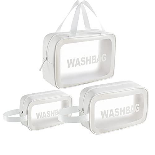 Glowjoy Trousse de toilette transparente en PVC pour voyage en avion, en avion, dans la salle de bain