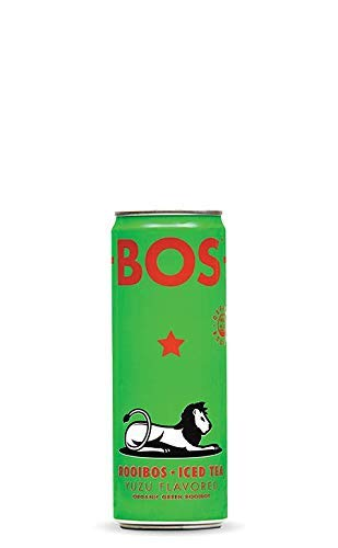 BOS Organic Iced Tea - Naturally Caffeine Free and Antioxidant Rich - Made with Rooibos (Yuzu, 1 Can)