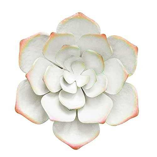showyow Decoración de Pared de Flores, Arte de Pared de Flores de Metal, Adorno de Flores para jardín, Patio, Sala de Estar, Dormitorio 36x36x8CM