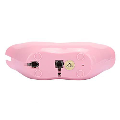 Decoración del hogar, teléfono rosa, teléfono rosa para el hogar, teléfono residencial resistente al medio ambiente, decoración de la habitación de las salas de estar para uso doméstico(pink)