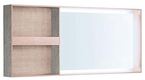 Keramag Geberit Citterio Lichtspiegel 500571JI1, mit Ablagefach, 133,4x58,4x14cm, Holzstruktur Eiche beige