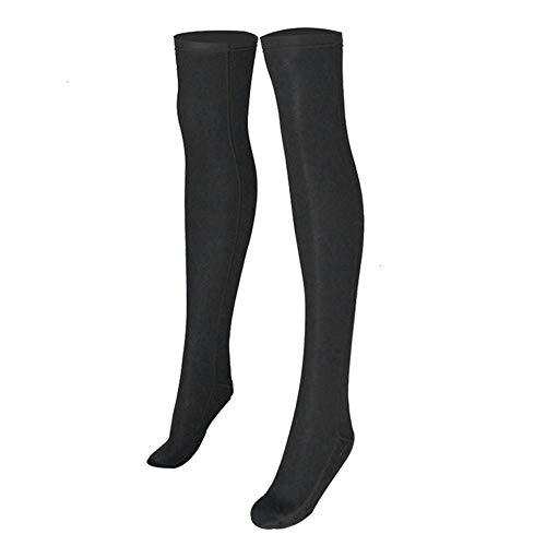 Tbest Damen Mädchen Overknee Strümpfe Tauchsocken Frauen 2mm Neopren Wassersport Socke Lange Socken Beachsocken Sandsocken Surfen Schnorchel Tauchen Strumpf(XL)