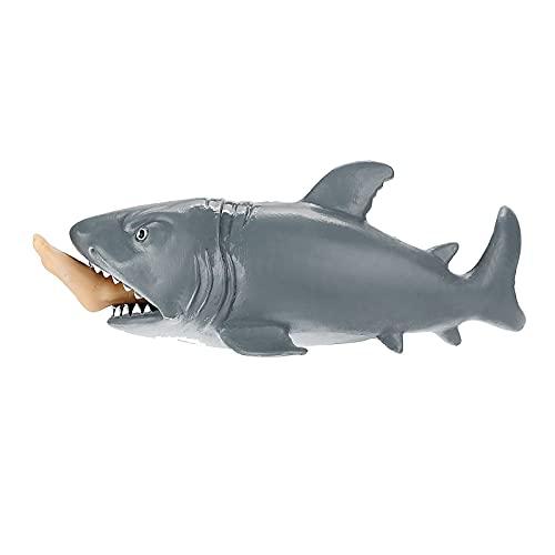 N\A Juguete antiestrés para niños y adultos de Squeeze Toys, divertido juguete de tiburón, práctico juguete de diversión y con copa de ardilla antiestrés para ansiedad
