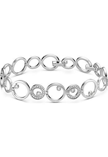 JETTE Damen-Armband 925er Silber 39 Zirkonia One Size Silber 32013570