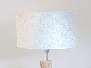 abat-jour art déco géométrique or et argent Luminaire diamètre personnalisé cylindre rond idée cadeau anniversaire décorat...