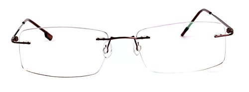 Agstum Titanium Alloy Flexible Rimless Hinged Frame Optical Eyeglasses Frames