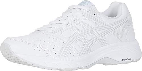ASICS Women's Gel-Contend 5 Walker Walking Shoes, 8.5M, White/Glacier Grey