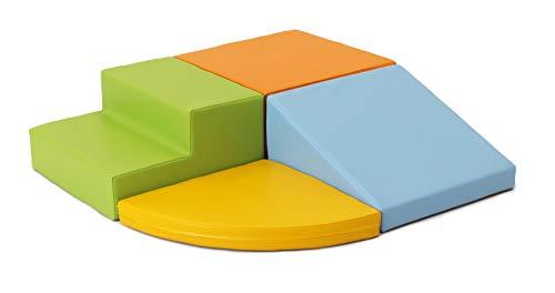 IGLU 4 XL Bloques de Espuma Figuras de Construcción Juguete para Aprendizaje Creativo Infantil Conjunto de Cubos Multicolores