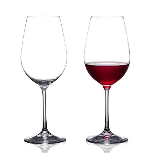 WWWANG Vino Tinto Copas de champán Copa de Cristal sin Plomo en Caja de Regalo Almacenamiento pequeño, práctico y portátil (Color : Clear-Pack of 4, Size : 250ml)