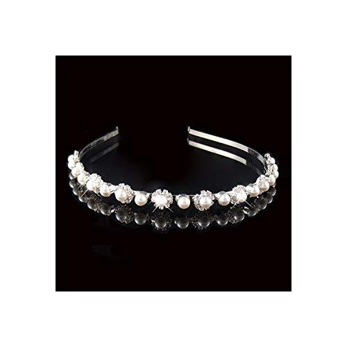 Prinses Tiara Bruids Prom Kroon Meisje Elegante Haarbanden Parel Kristal Bruiloft Haar Sieraden Accessoires 5 stuks.