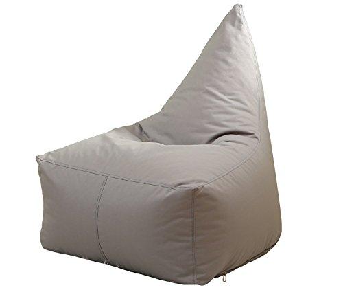 Quwei Triangle Dos paresseux Pouf Sac de fèves chaise Canapé confortable Canapé doux. cover of sofa gris