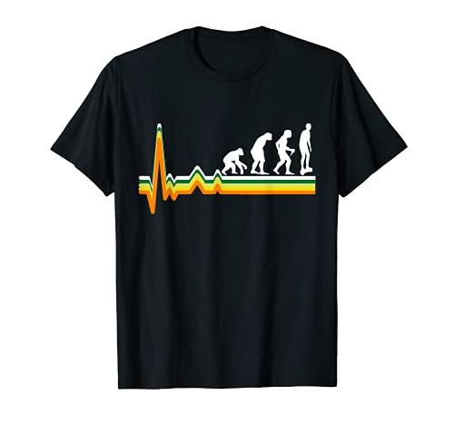 一輪車の進化 ホバーボード 電動スケートボード Tシャツ