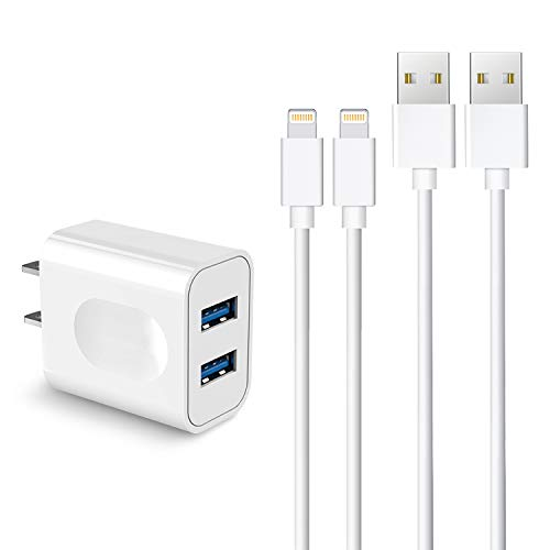 Sundix iphone 充電器 ライトニングケーブル 1M*2 iphone 充電ケーブル 対応機器iPhone/iPad/iPod ホワイト