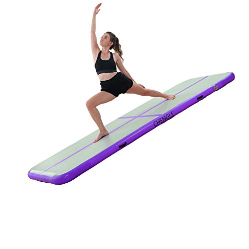 CHENGLE Gymnastics Air Mats,10ft 13ft 16ft 20ft Tumble Track Tumbling Mat Inflatable Floor Mats with Electric Air Pump
