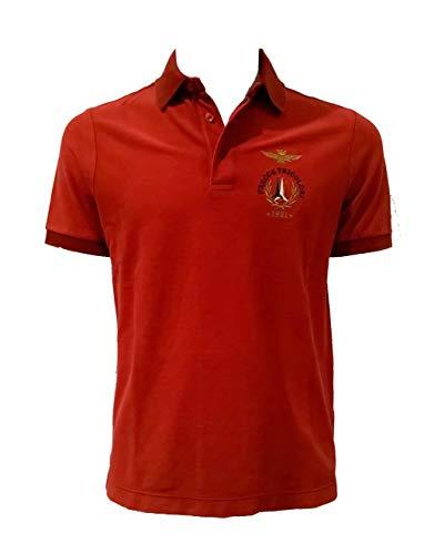 Aeronautica Militare Polo PO1307P Rojo, Piquet, Hombre, Sudadera, Camiseta, Chaqueta (L)