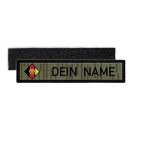 Copytec DDR NVA Namenschild Patch mit Namen Strichtarn Nationale Volksarmee Deutsche Demokratische #24348