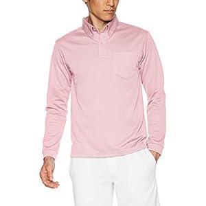 [グリマー] 長袖ポロシャツ (ポケット付) 4.4オンス ドライ ボタンダウン 00314-ABL メンズ ライトピンク L (日本サイズL相当)