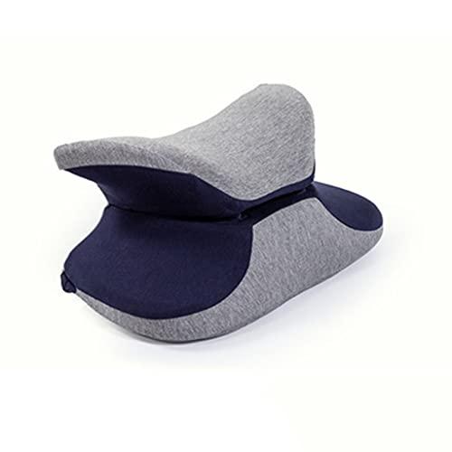 KAINUYA Almohada de la siesta de oficina, almohadilla multifuncional de cintura de doble propósito, almohada de mentira, espuma de memoria almohada, almohada de la siesta del estudiante 33 * 38 * 15 c