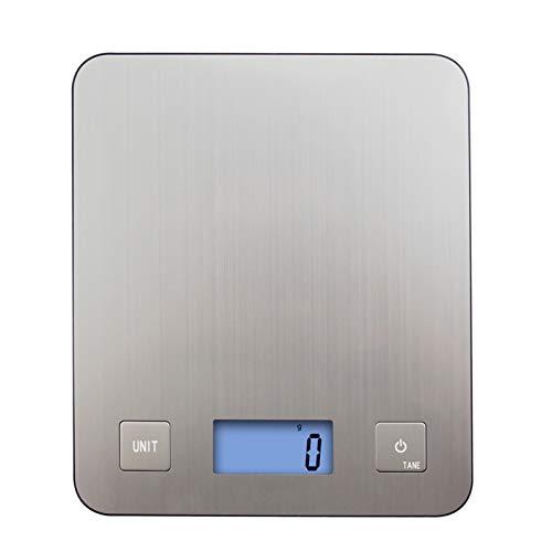 XILALA Balanza Sigital de Cocina, 5kg / 1 g Mini Mini Profesional Digital Precision Smart Portable Cocina Pesaje Electrónico para Alimentos Tea Coffee Machine Tools Pequeño Ayudante en la Cocina.