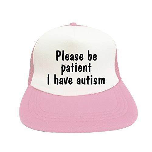 Please Be Patient I Have Autism Letter Print Hip Hop Hat Men Women Rainbow Puzzle Piece Autism Awareness Snapback Cap Hat YF104