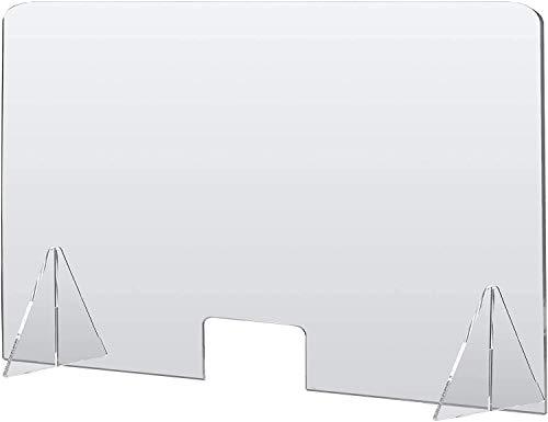 Spuckschutz plexiglas, 4mm(90x60), Plexiglas schutzwand, Spuckschutz thekenaufsatz, Theken, Maniküre, Schreibtisch, transparentes Material