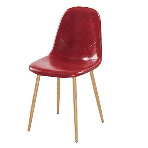 DJ Keuken Eetkamerstoel PU stoel Ontbijtkruk Bar, Bar Woonkamer thuis Kantoorstoel bureaustoel, Donkergroen (Kleur: rood) Rood