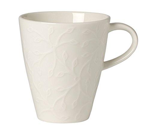 Villeroy & Boch Caffè Club Floral Touch Kleiner Kaffeebecher, 200 ml, Premium Porzellan, Weiß