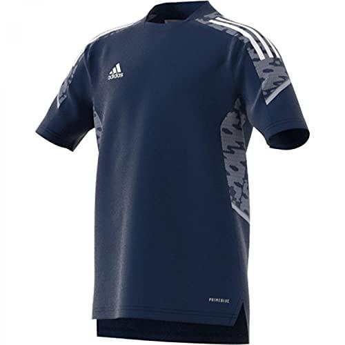 adidas, Condivo 21 Primeblue, Camiseta De Fútbol De Manga Corta, Equipo Azul Marino/Blanco, 1516, Unisex-Hijo