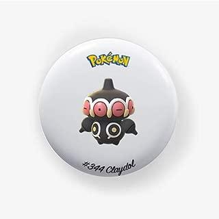 Claydol #344 : Go, Pinback Button Badge 1.50 Inch (38mm)