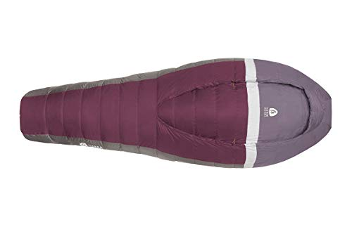 Sierra Designs Women's Backcountry Bed 20, Lightweight Zipperless Backpacking 20 Degree Sleeping Bag with Insulated Hand/Arm Pockets, Comforter Like Design & More, Women's