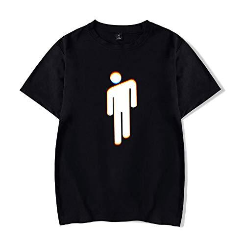 SJZV Billie Eilish Unisex Patrón 3D Impreso Verano Casual Manga Corta Camisetas Camisetas
