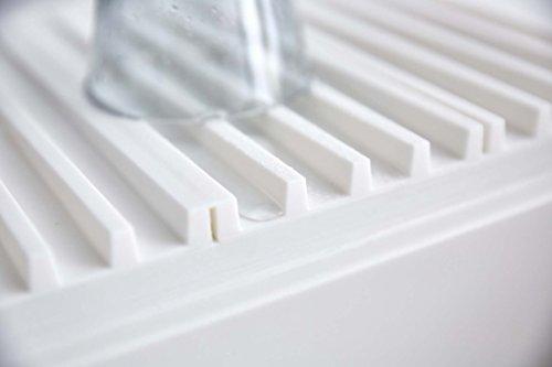 山崎実業水切りマット水滴をそのままシンクに流せる3way折り畳み水切りトレータワーホワイト3835