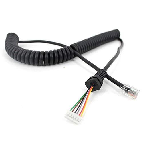 Sylvialuca Mikrofonkabel für Yaesu MH-48A6J FT-7800 FT-8800 FT-8900 FT-7100M FT-2800M FT-8900R Handmikrofon-Verlängerungskabel