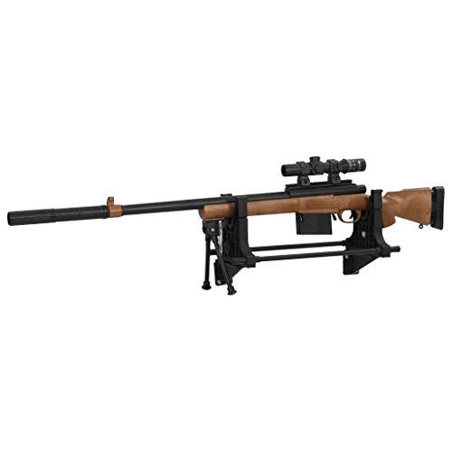 Tidyard Gewehrauflage Verstellbare Gestellhöhe Einschießbock Einschießhilfe Schußhilfe Schusshilfe Schießauflage 40x17,5x19cm Kunststoff