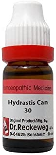 Dr. Reckeweg Hydrastis Canadensis 30 CH (11ml)- Pack Of 1 Bottle & (Free St. George's ASMA MIX - An Ideal Remedy for Breat...