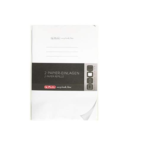 Herlitz 11361904 Refill für My Book flex A5, 2 x 40 Blatt blanko