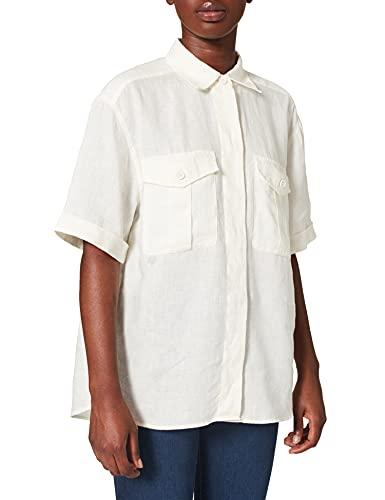BOSS C_Bawakine Blusas, Color Blanco Abierto, 42 para Mujer